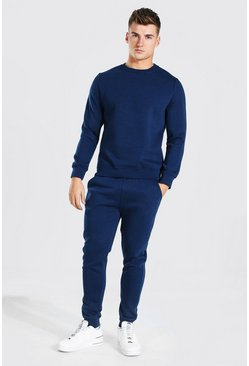 Sweater Tracksuit With Zip Pockets, Navy