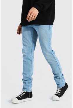 Tall Steife Slim-Fit Jeans, Hellblau
