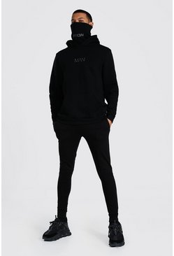 Black Tall Original Man Snood Tracksuit