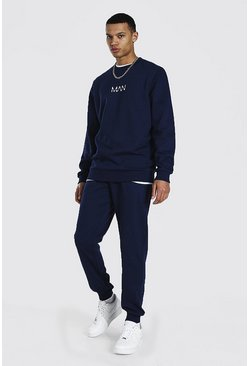Tall Man Dash Sweater Tracksuit, Navy