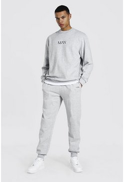 Grey marl Tall Man Dash Sweater Tracksuit