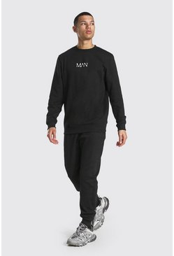 Tall Man Dash Sweater Tracksuit, Black