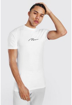 White Tall Man Signature Muscle Fit T-shirt