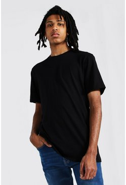 Black Tall Basic Rolled Sleeve T-shirt