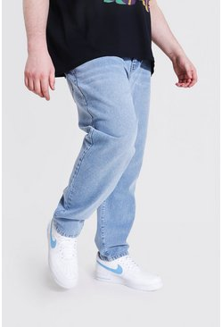 Plus Size Slim Fit Rigid Jean, Washed blue