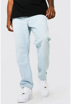 Plus Size Slim Fit Rigid Jean, Ice blue