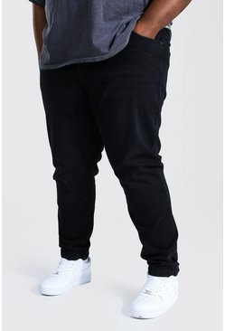 Washed black Plus Size Stretch Skinny Fit Jean