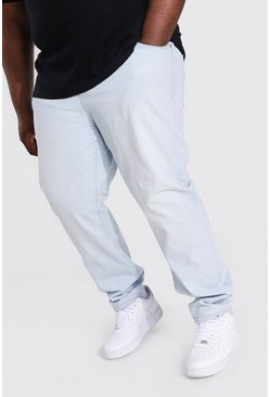 Plus Size Slim Fit Rigid Jean, Bleach wash