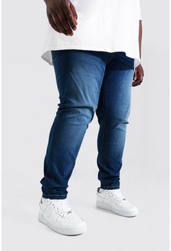 Antique blue Plus Size Stretch Skinny Fit Jean