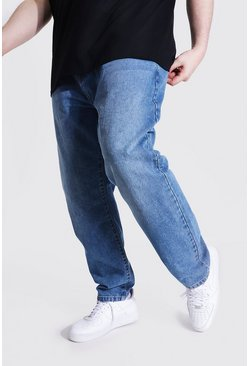 Plus Size Slim Fit Rigid Jean, Mid blue