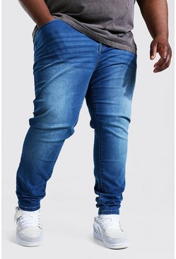 Plus Size Stretch Skinny Fit Jean, Mid blue