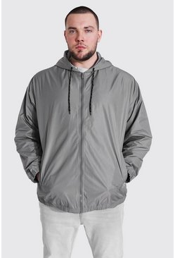 Charcoal Plus Size Zip Through Cagoule