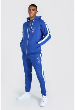 Blue Man Roman Side Panel Zip Hooded Tracksuit