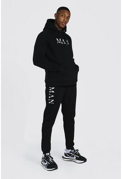 Black Man Roman Hooded Tracksuit