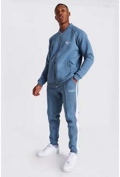 Blue Man Roman Smart Bomber Tracksuit