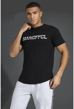 Black Man Active Gym T-shirt