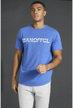 Cobalt Man Active Gym T-shirt