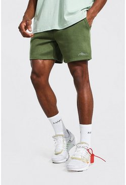Khaki Man Signature Short Length Jersey Shorts