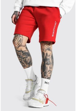 Red Man Official Embroidered Regular Jersey Shorts