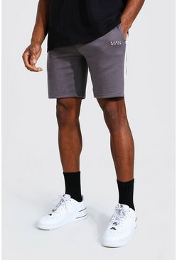 Charcoal Original Man Mid Length Slim Side Panel Short