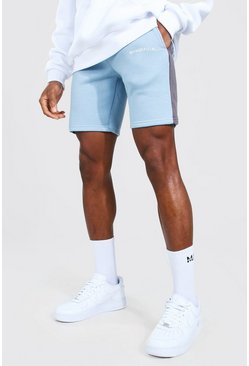 Blue Man Official Mid Length Slim Side Panel Short