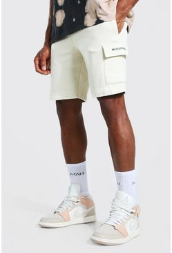 Stone Man Official Mid Length Slim Cargo Shorts
