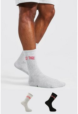 Lot de 2 paires de chaussettes New York - MAN Official, Multi