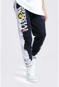Black Core Fit Tour Drip Face Tie Dye Jogger