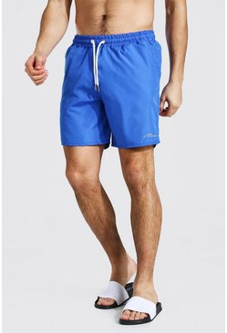 Royal Man Signature Mid Length Swim Short