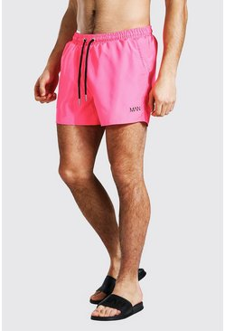 Neon-pink Original Man Swim Short In Short Length