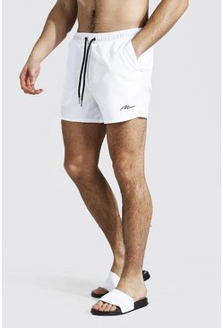 Short de bain court - MAN, White