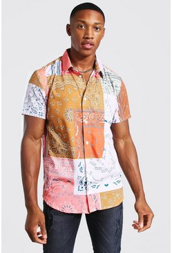 Multi Short Sleeve Regular Fit Bandana Shirt