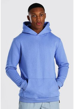 Cornflower blue Heavyweight Over The Head Hoodie