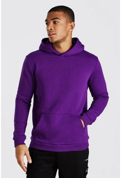 Vibrant purple Heavyweight Over The Head Hoodie