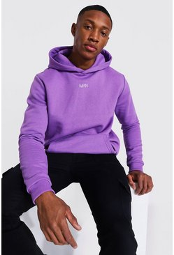 Purple Original Man Heavyweight Over The Head Hoodie