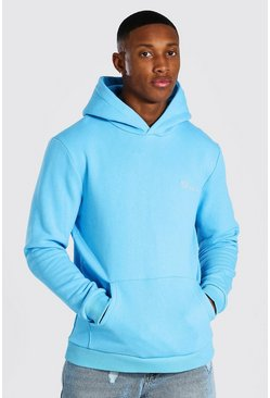 Bright blue Man Official Heavyweight Over The Head Hoodie