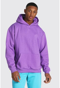 Purple Oversized Heavyweight Over The Head Hoodie