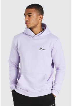 Lilac Man Official Heavyweight Over The Head Hoodie