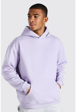 Lilac Oversized Man Official Heavyweight Hoodie