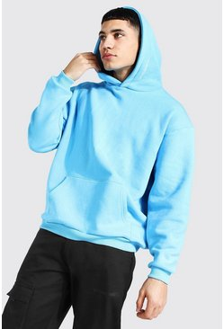 Bright blue Oversized Man Official Heavyweight Hoodie