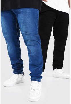 Multi 2 Pack Plus Size Stretch Skinny Fit Jean