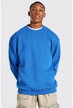 Blue Oversized Heavyweight Sweatshirt