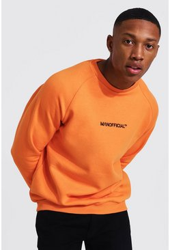 Orange Man Official Heavyweight Raglan Sweatshirt