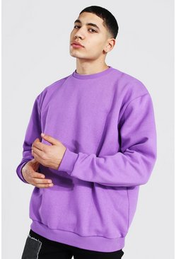Purple Oversized Heavyweight Sweatshirt