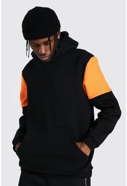 Orange Man Signature Heavyweight Colour Block Hoodie