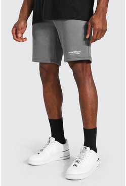 Charcoal Man Official Waistband Slim Mid Jersey Short