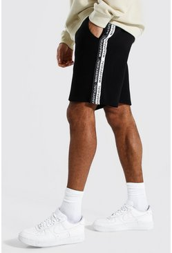 Black Man Official Tape Mid Length Regular Short