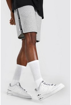 Grey marl Man Official Tape Mid Length Regular Short