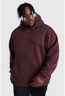 Grande taille - Sweat à capuche - MAN, Brown