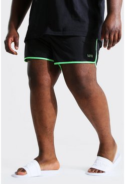 Acid lime Plus Size Man Dash Runner Swim Short